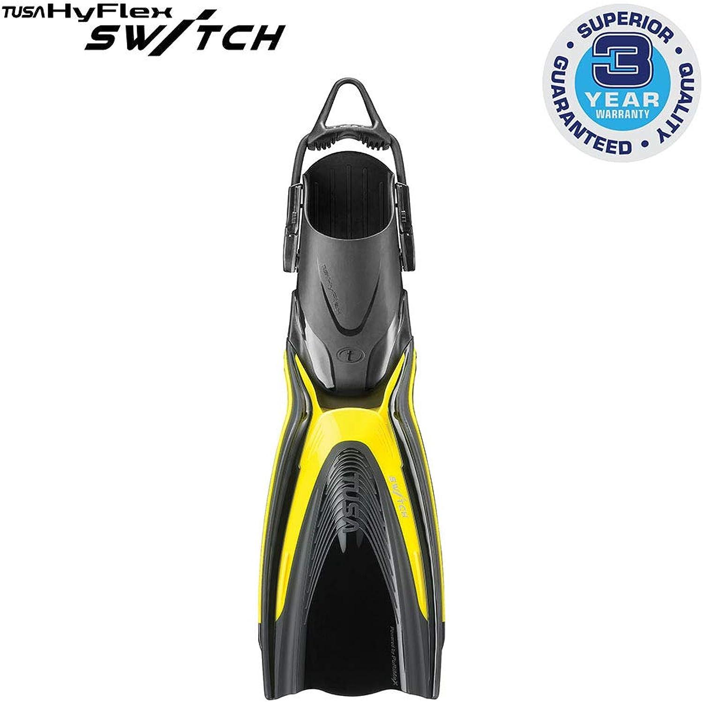 Tusa Hyflex Switch Fin  Medium Flash Yellow