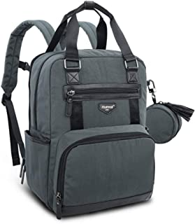 Hafmall Diaper Bag - Waterproof Large Travel Backpack with Pacifier Pocket for Mom and Dad