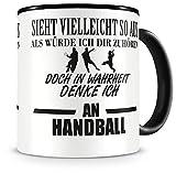 Samunshi® Ich denke an Handball Tasse Kaffeetasse Teetasse