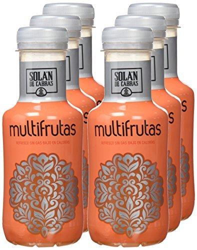 Solán De Cabras - Multifrutas - Bebida Refresco Multifrutas - 330 ml - , Pack de 6