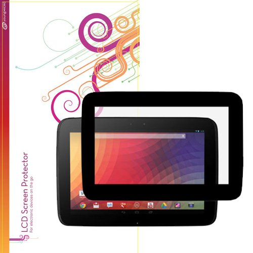 rooCASE EZ-ON Anti-Glare Screen Protector for Google Nexus 10 Android Tablet (100% bubble free installation)