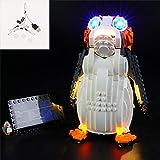 QJXF Juego De Luces USB Compatible con Lego Star Wars El Último Jedi PORG 75230, LED Light Kit para (Star Wars PORG) De Bloques De Creación De Modelos (No Incluido Modelo)