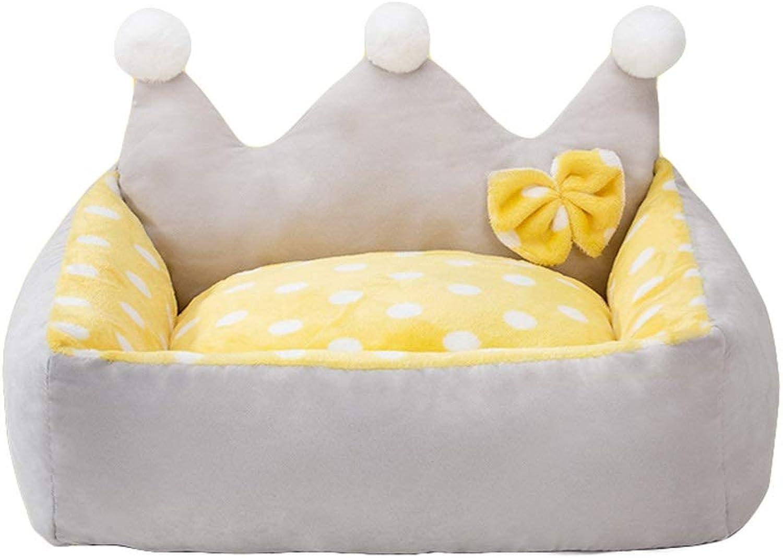 Pet Nest Pet Sofa Detachable and Washable Four Seasons Universal Pet Supplies (color   Yellow)