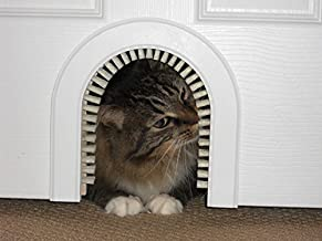 Cat Door - The Original Cathole Interior Pet Door - The Only Cat Door With A Cleaning / Grooming Brush.