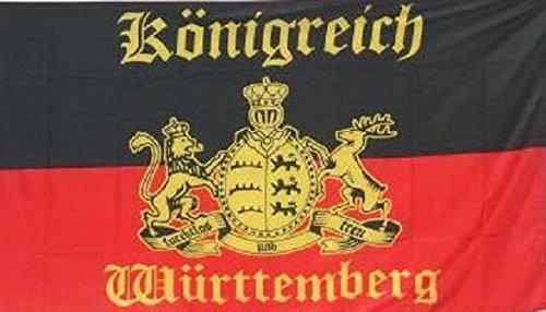 U24 Fahne Flagge Königreich Württemberg mit Schrift 90 x 150 cm