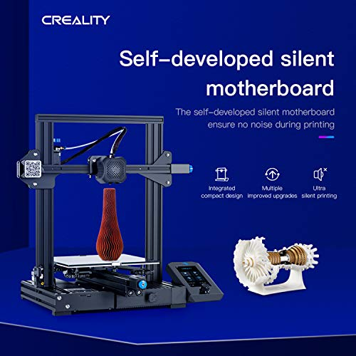 Entweg Creality 3D Ender-3 V2 3D Printer Kit All-Metal Integrated Structure Silent Mainboard New UI Display Screen Support Resume Printing 220 * 220 * 250mm Build Volume - 9