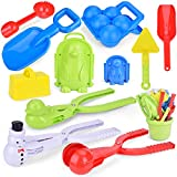 FUN LITTLE TOYS Snowball Maker Tools for Kids-12 Pieces and for Kids and Adults Snow Ball Fights,...