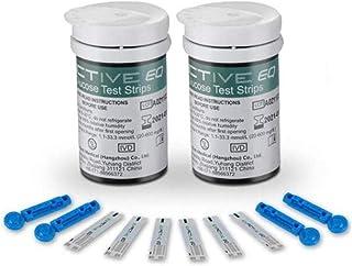 Medidor automático de glucosa en sangre El medidor de diabetes incluye 50 tiras reactivas 50 piezas de aguja Lanceta sin dolor Dispositivo de monitoreo de glucosa en sangre en el hogar,50+50