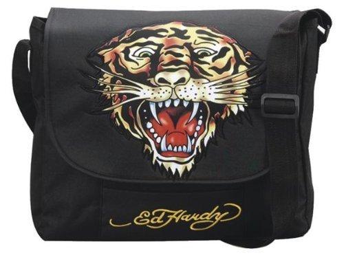 Preisvergleich Produktbild Ed Hardy Tasche Umhängetasche Courierbag Tiger black