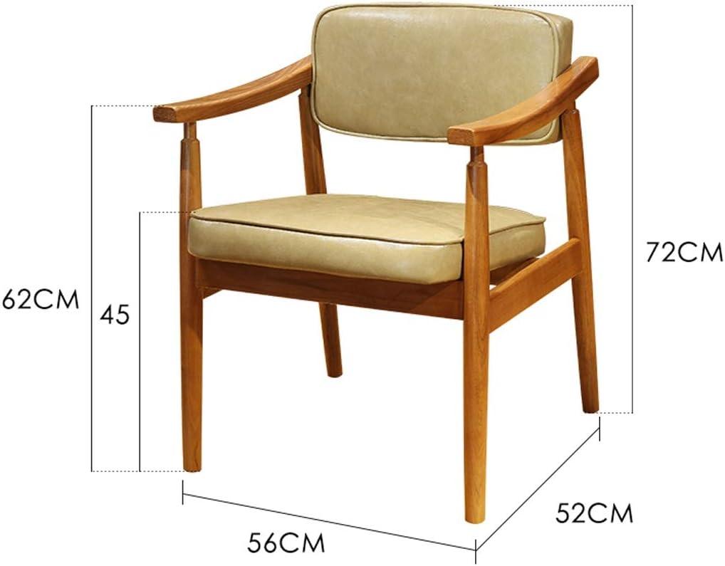 PRIDE S Chaise de Salle à Manger Simple avec Dossier créatif Couleur Crème.