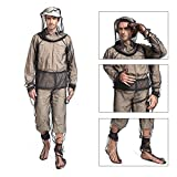 Lixada Mosquito Suit,Repellent Bug Jacket Mesh Hooded Suits Unisex Ultra-fine Mesh Insect Protective