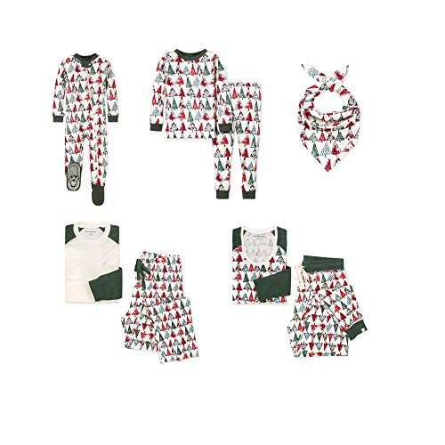 Burt's Bees Baby, Family Jammies, Matching Holiday Pajamas, Organic Cotton PJs, O Christmas Tree, Womens, X-Large
