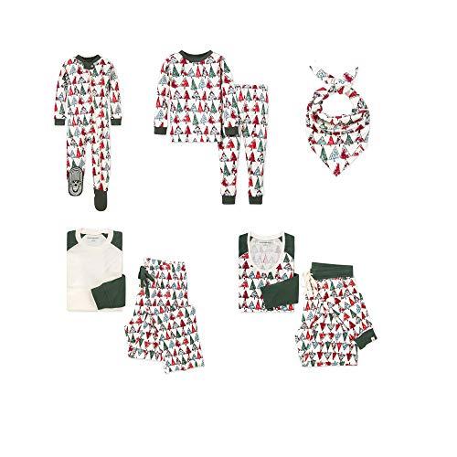 Burt's Bees Baby, Family Jammies, Matching Holiday Pajamas, Organic Cotton PJs, O Christmas Tree, Womens, Large
