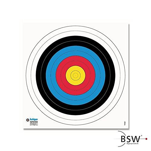 Krüger Zielscheibenauflage nach FITA Abmaßen - Ø 40cm - 20 Stück