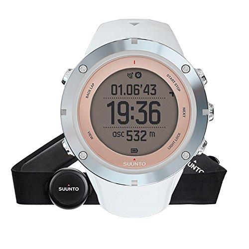 Suunto - Ambit3 Sport Sapphire HR - SS020672000 - Reloj GPS Multideporte + Cinturón de frecuencia cardiaca (Talla M) - Sumergible 50 m - Blanco - Cristal Zafiro