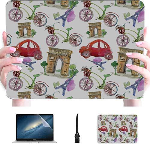 2018 MacBook Pro Accessories Paris Landmark Eiffel Tower Arc De Triomphe Plastic Hard Shell Compatible Mac Air 13' Pro 13'/16' MacBook Accessories Case Protective Cover for MacBook 2016-2020 Version