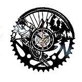 Ciclismo reloj de pared vinilo decoración del hogar Ciclismo...