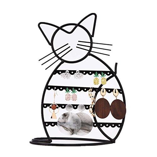 Ohrringhalter Ständer Ohrringhalter Organizer mit B\'onus/Ohrringhalter für Mädchen in Katzenform