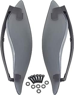 PBYMT Side Wings Air Deflectors, Fairing Side Wing Windshield, Fairing Side Cover Shield, Smoke Adjustable Wind Deflectors, Compatible for Harley Electra Glide Street Glide Trike 2014-2020