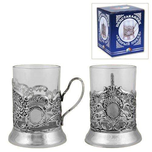 Teeglashalter mit Teeglas