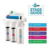 5Etapa Ro de ósmosis inversa filtros de agua de repuesto Set con 75GPD membrana