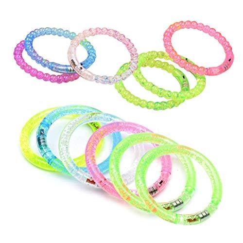 TOYANDONA 12 blinkende Armbänder, leuchtend, Partyzubehör, Kinderspielzeug für Hochzeit, Weihnachten, Feiertage, Geburtstag