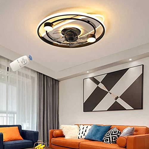 JWWS VOMI LED Lámpara De Abanico, Control Remoto Regulable Luz De Techo, Luz De Ventilador Silencioso Invisible, Velocidad del Viento Ajustable Ventilador De Techo con Iluminación,A