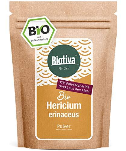 Hericium Pulver Bio 150g - Stachelbärte - vegan - Hericium erinaceus - abgefüllt und zertifiziert in Deutschland (DE-ÖKO-005)