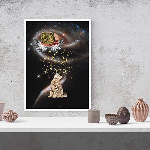 Puzzle 1000 Piezas Animal Art Paint Universe Picture Sueño Estrellado Obra de Arte Pintura mágica en Juguetes y Juegos Educativo Divertido Juego Familiar para niños adultos50x75cm(20x30inch)