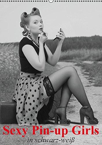 Sexy Pin-up Girls in schwarz-weiß (Wandkalender 2015 DIN A2 hoch): Kesse Pin-up-Girls im Stil der 40er- und 50er Jahre (Monatskalender, 14 Seiten)