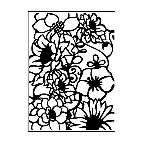 Carabelle Studio Cartella per Goffratura Mascherina Stencil Composizione Floreale, Plastic, Transparent, 10.8x14.6x0.11 cm