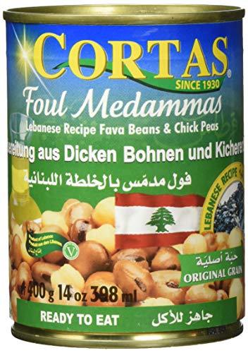 Cortas Dicke weiße Bohnen und Kichererbsen, 6er Pack (6 x 400 g)