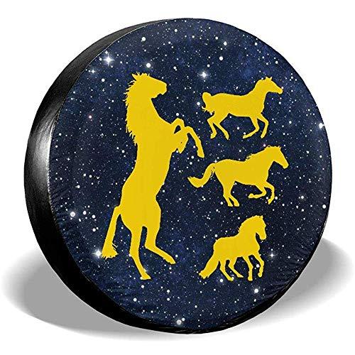 Cubiertas de Llantas Running Horse Silhouette Rueda de Repuesto Universal Cubierta de...