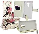 Emartbuy® Vodafone Smart Platinum 7 Brieftaschen Wallet Etui Hülle Case Cover aus PU Leder mit Kreditkartenfächern - Fee Mädchen