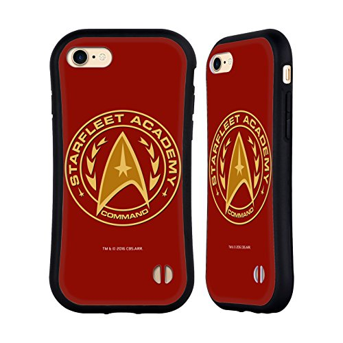 Head Case Designs Officially Licensed Star Trek Command Starfleet Academy Logos Hybrid Case Compatible with Apple iPhone 7 / iPhone 8 / iPhone SE 2020