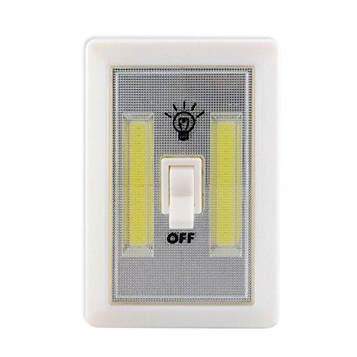 GTC® Super Bright COB LED Cordless Switch Light, Tap Light, Battery Operated LED Night Lights, Under Cabinet, Shelf, Closet, Nightlight Kitchen (Pack of 2) 11x7.5x2 cm (Plastic) White