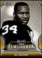 2019 Leaf Draft Flashback Gold #2 Bo Jackson Oakland Raiders NFL Football Card (RC - Rookie Card) NM-MT