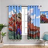 Cortinas perforadas de cocina M-ine-craft fondos utilizados en la sala de estar para mejorar el dormitorio de la junta de 132 x 160 cm