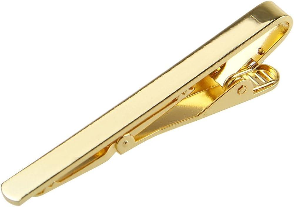 Gilroy Men's Metal Simple Necktie Tie Bar Clasp Clip Pin