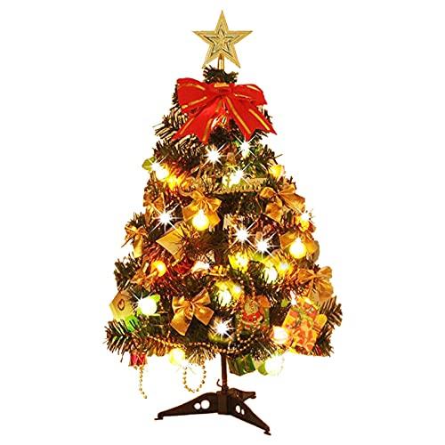 Faderr Mini albero di Natale artificiale da tavolo con ornamenti, decorazione da tavolo per casa e feste (colorata)