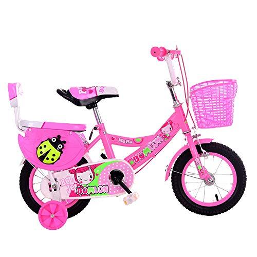 MLSH Kinderfahrrad for 2-8 Jahre Mädchen, Kinderfahrrad mit Stabilisatoren - Stützrad, All-Terrain Kinder Jungen Mädchenfahrrad for Energetic Kids, 95{fbdab8d872f9c1408e7bed86a4dbfaca1cf921e544d3e8bb415bfcba7f211e70} montiert, Pink (Size : 18 inch)