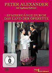 Rotes Cover der DVD Spaziergänge durch das Land der Operette mit Peter Alexander und Ingeborg Hallstein