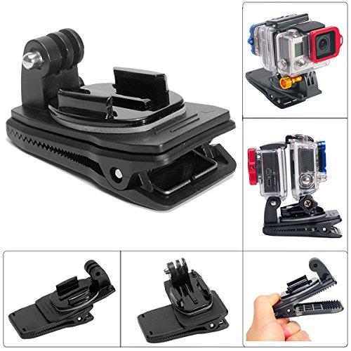 rotary backpack clip gopro - 4