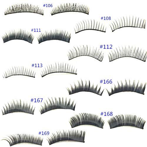 90 Paires 9 Type Naturel Feeling Maquillage Noir Soft Faux Cils Cils