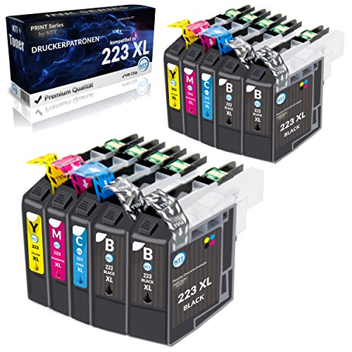 NTT 10 cartuchos de tinta XL de repuesto para LC223 XL 223 XL compatibles con Brother DCP-J562DW J4120DW MFC-J5320DW J880DW J5620DW J5625DW J680DW J4625DW J5720DW J4420DW J4620DW J480DW