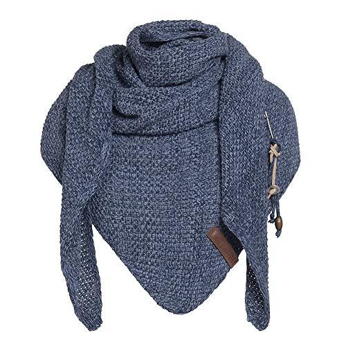 Knit Factory - Coco Dreiecksschal - Jeans/Indigo - 190x85 cm
