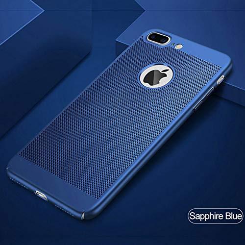 SFJUL telefoonhoesje Warmtedissipatie Mat Hard Case Voor Apple iPhone X 8 7 Plus Ultra Dunne Kunststof Beschermer Telefoon Shell Voor iPhone 10 5, For iphone 6 plus, Saffier Blauw