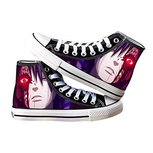 Ga-yinuo Naruto Alpargatas Zapatos Hombre Zapatillas Casual Bambas Zapatos Mujer Adolescente Zapatillas Deportivas Zapatos Planos Unisex Anime Shoes 36