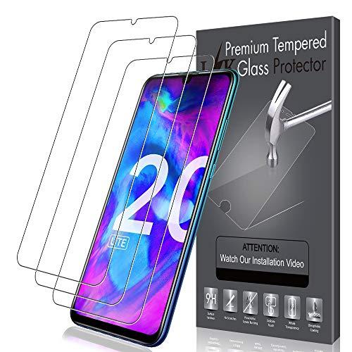 LK [3Stück Schutzfolie für Huawei Honor 20 Lite (6.21Zoll),Huawei Honor 20 Lite Panzerglas,[Bubble Free] HD KlarGehärtetemGlas Bildschirmschutz
