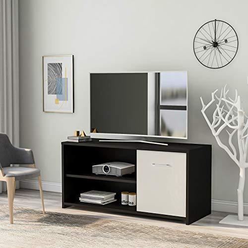 DADEA Mueble de TV, mueble de TV moderno con estanterías, centro de entretenimiento de 40 pulgadas, para TV de pantalla plana y consolas de juegos, soporte para sala de estar o dormitorio